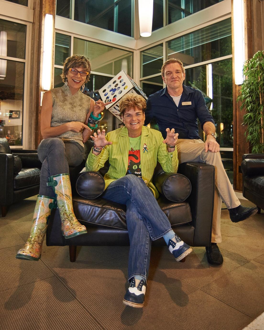 Boris, Marla, and Patty Sheehan