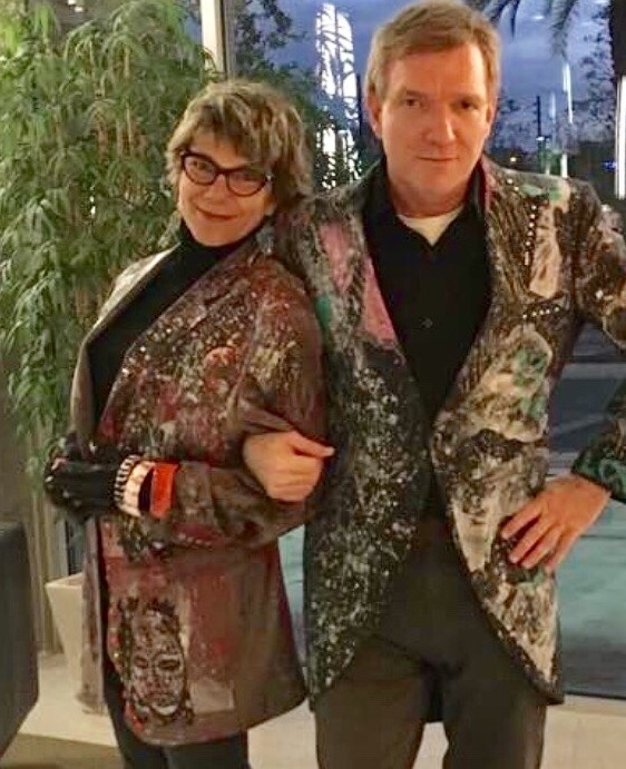 Boris and Marla wearing jackets by Daniel Chimowitz