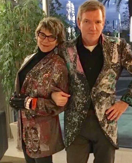 Boris and Marla wearing jackets by Daniel Chimowitz